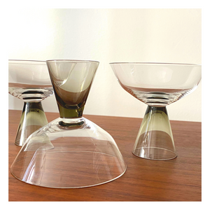 Set of 3 Rosenthal Fortuna Mini Coupe Glasses