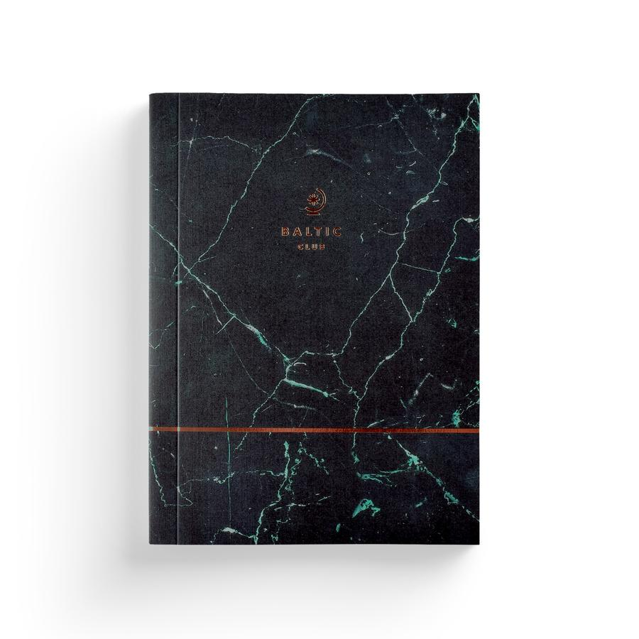Green Marble Notebook