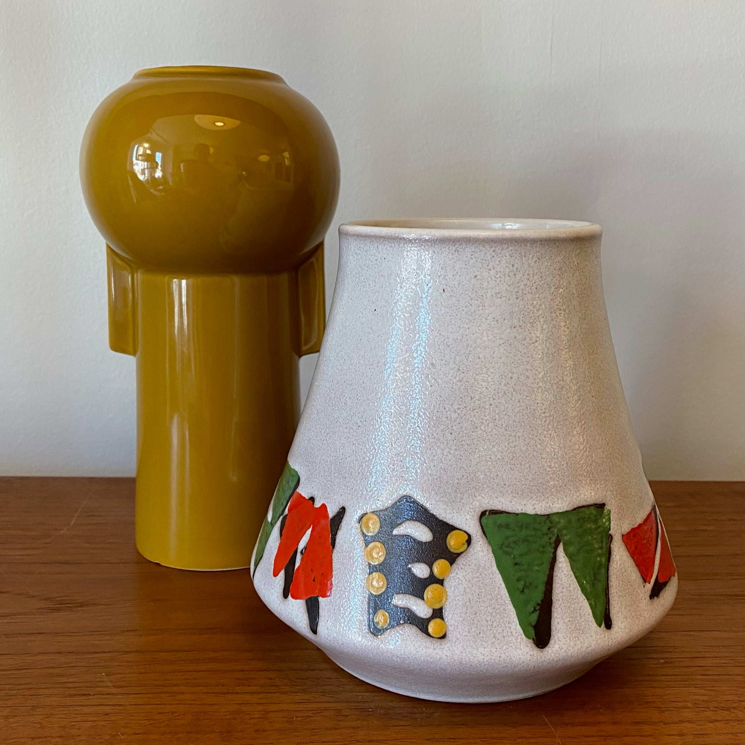 West German Pottery Patterned Vase