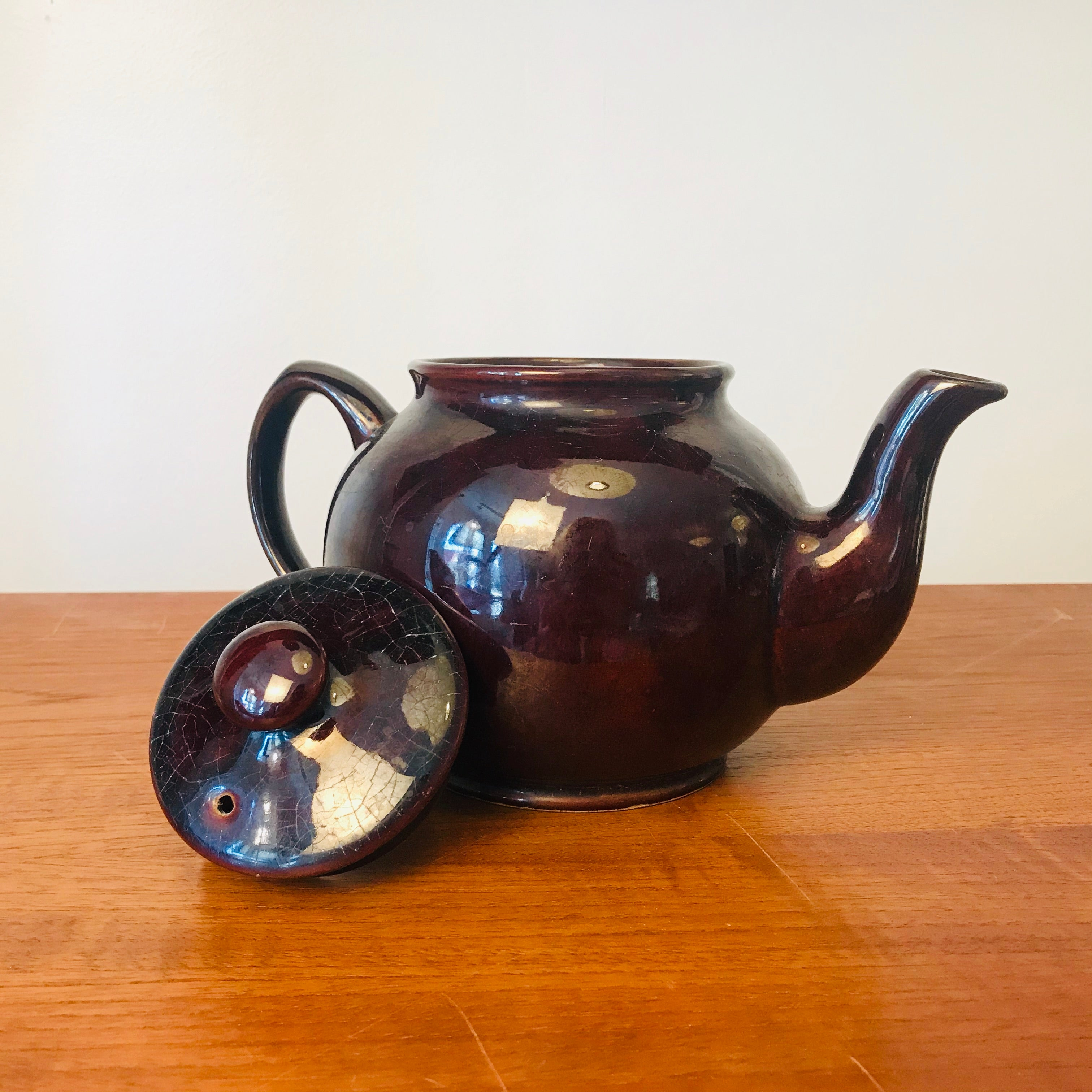 Sadler Brown Betty Teapot