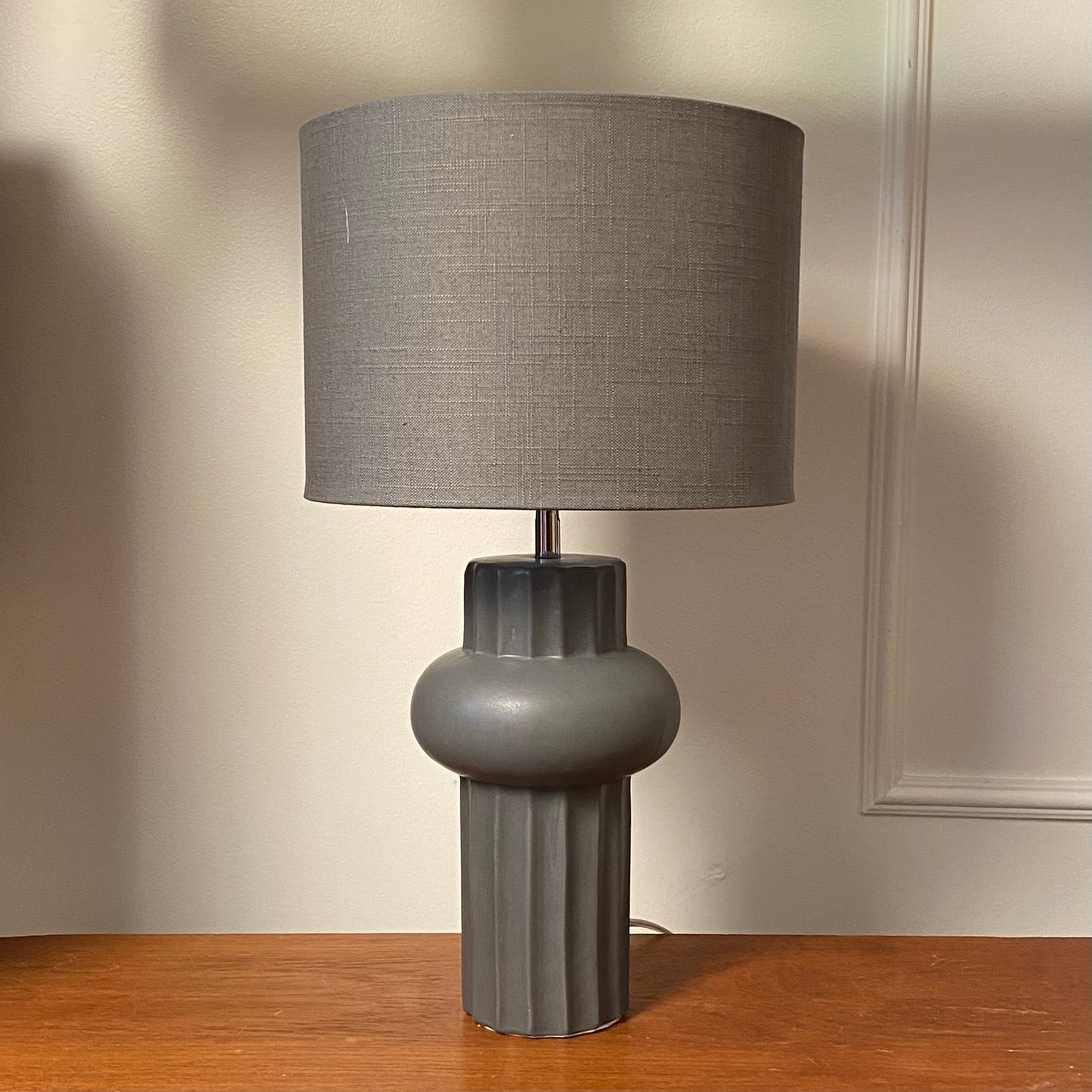Baldwin Charcoal Table Lamp