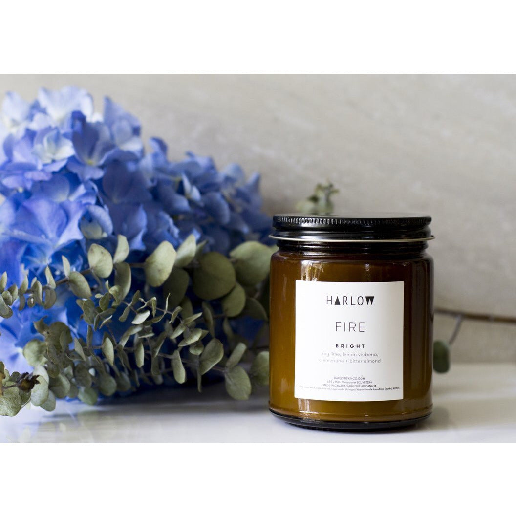 Harlow 8oz essential oil candle - Bright