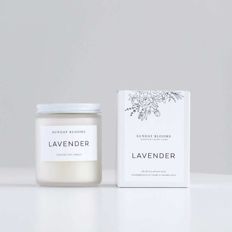 Sunday Blooms - Lavender Soy candle