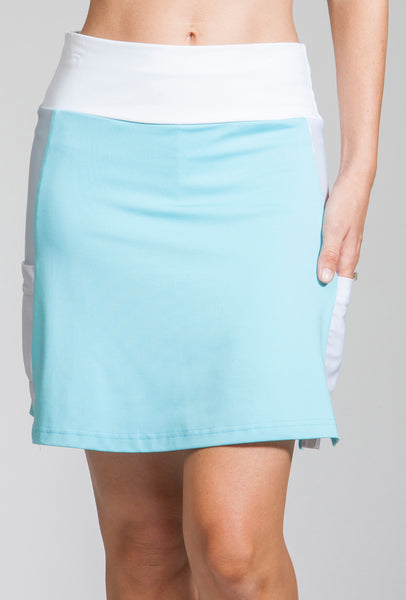 Meghan Performance Golf Skort Ice Blue / White