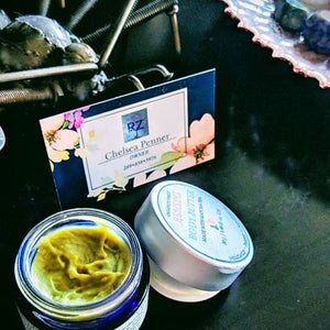 Green Tea Body Butter Packaged in Glass Container
