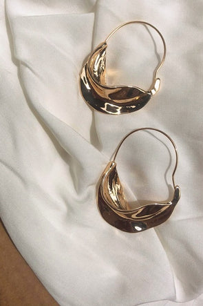 Statement Twisted Gold Hoops