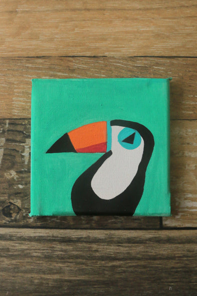 Tropical Bird mini canvas