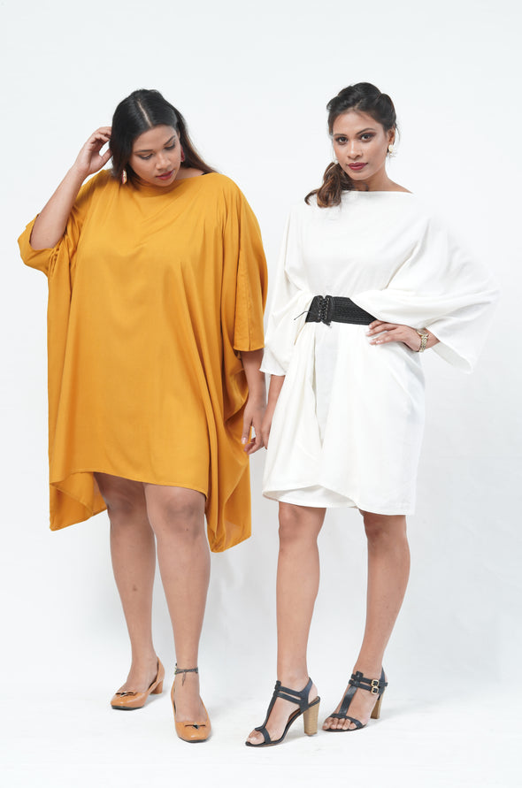 Free Size Miss Independent Kaftan - White