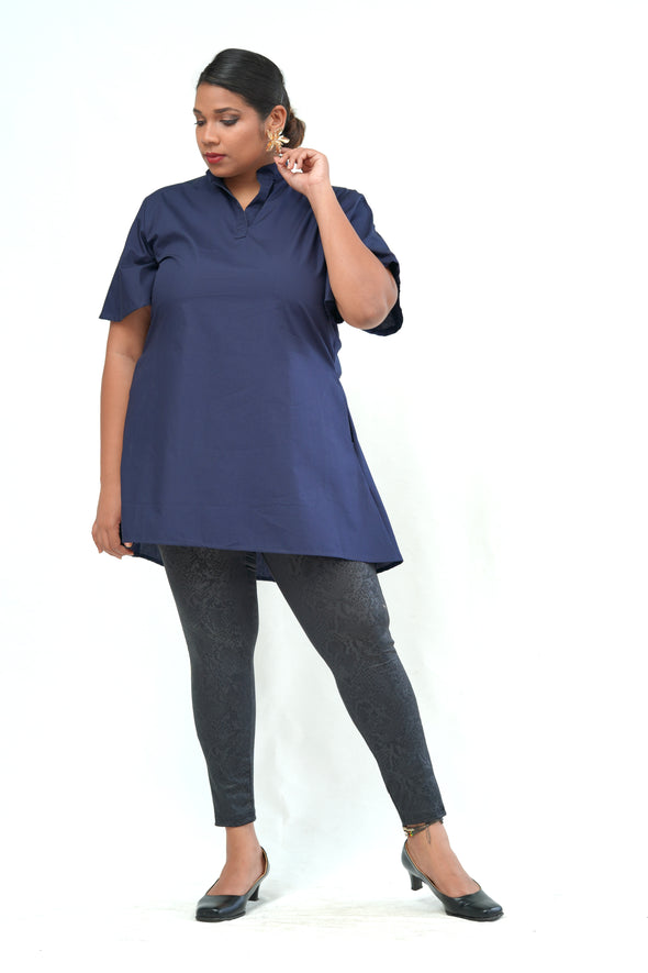 Rebel Spirit Navy Dress Top - Available Only at Clara Vogue