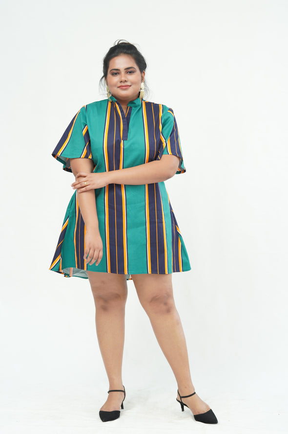 Hustle Hard Striped Dress Top -Available Only at Clara Vogue