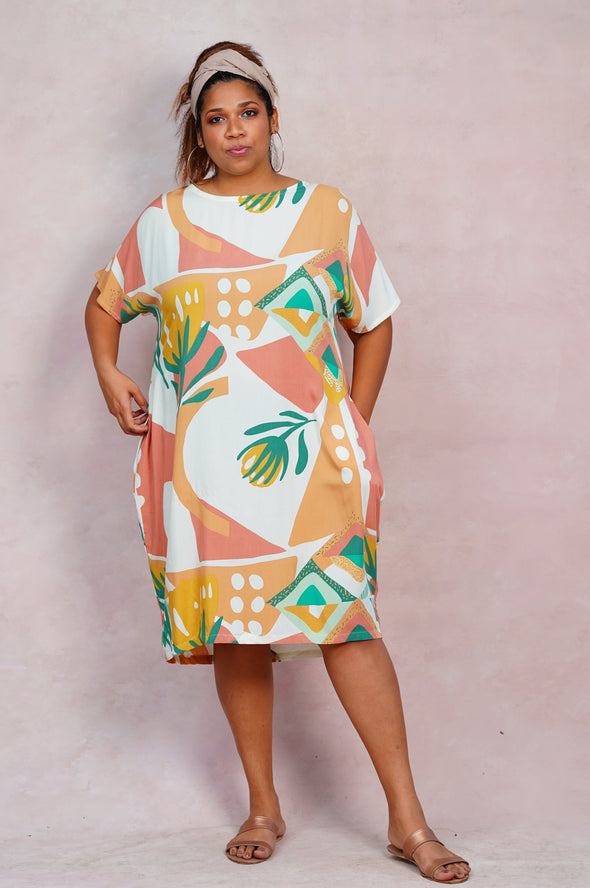 Pink Savannah Dress - Free Size