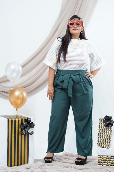 Green Gloria Office Pant