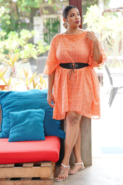 Orange Boho Kaftan - Free Size