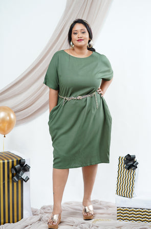 9TO9 olive green dress