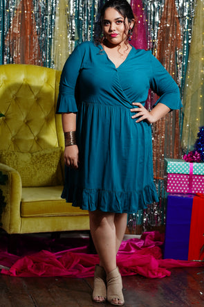 Show must go on filled dress - Teal