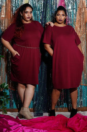 Burgundy under my Christmas tree - Free size