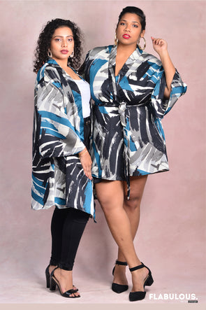 Brushed and Polished Satin Robe coverup/ dress