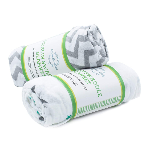 Set of 2 Swaddle Blankets