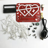 electronic DIY kit heart by heart misic LED DIY kit Welding parts gift red