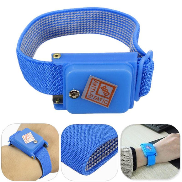 Cordless Wireless Adjustable Anti Static Bracelet Electrostatic ESD Discharge Cable Wrist Band Strap Hand With Spare Wristband