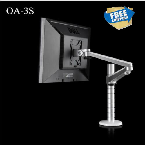 Free shipping OA-3S Height Adjustable within 27 inch LCD LED Monitor Holder 360 Degree Rotatable Computer Monitor Stand