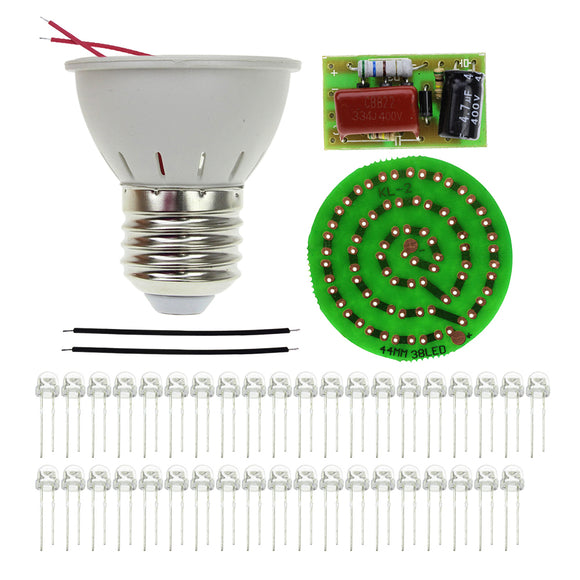 New Energy-Saving 38 LEDs Lamps DIY Kits Electronic Suite 1 Set
