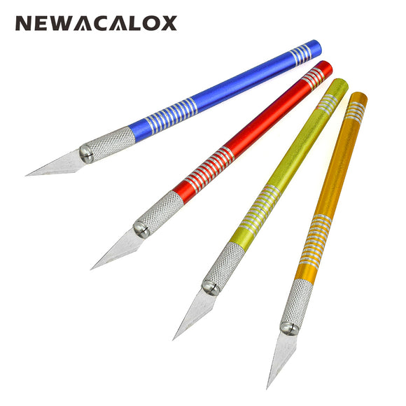 NEWACALOX 19PCS Precision Hobby Knife Stainless Steel Blades for Arts Crafts PCB Repair Leather Films Tool Pen Multi Purpose DIY