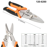"RDEER 7""/8"" Crimping Pliers Wire Stripper Multifunctional Scissor Cable Cutter Electrician Multi Tool"