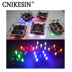 CNIKESIN DIY Swing Shaking LED Dice Kit With Small Vibration Motor Diy Electronic Kits (no battery)