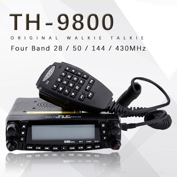 General TYT TH-9800 Pro 50W 809CH Quad Band Dual Display Repeater Scrambler VHF UHF Transceiver Car Truck Ham Radio
