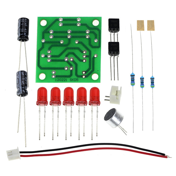 Voice Control LED Melody Light DIY Kits Production Suite Small Electronic Learning Electronic Kits.