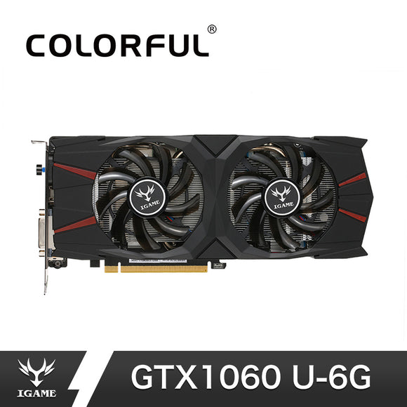 Colorful iGame GTX1060 U 6G Video Graphics Card 1556-1771MHz 8008MHz 1060 6GB 192Bit GDDR5 PCI-E 3.0 PC Gaming Card For PUBG