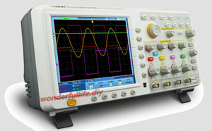 "OWON TDS8204 Digital Oscilloscope 8"" touch screen color LCD 4 channels 200MHz 2GS/s 7.6M Record Length"