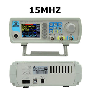 JDS6600 15MHZ Digital Control Arbitrary sine Dual-channel DDS Function Waveform Signal Generator frequency meter 47%off