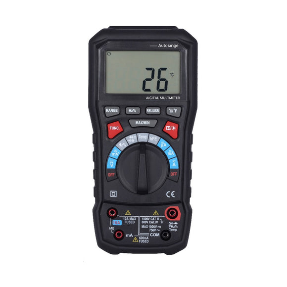 BSIDE ADM20 6000 Counts TURE RMS Auto Range Digital Multimeter DMM USB Interface Support PC with Backlight