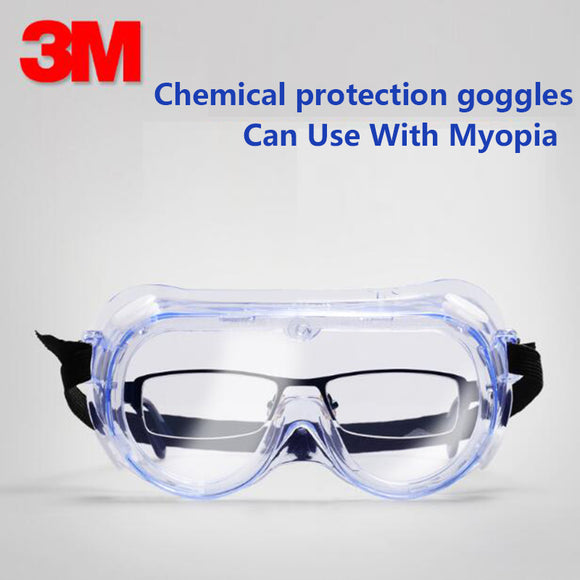 3M 1621/1621AF Anti-Fog Chemical Splash Clear Goggles Safety Anti-Fog Lens Eye laboratory Paint Spray Glasses