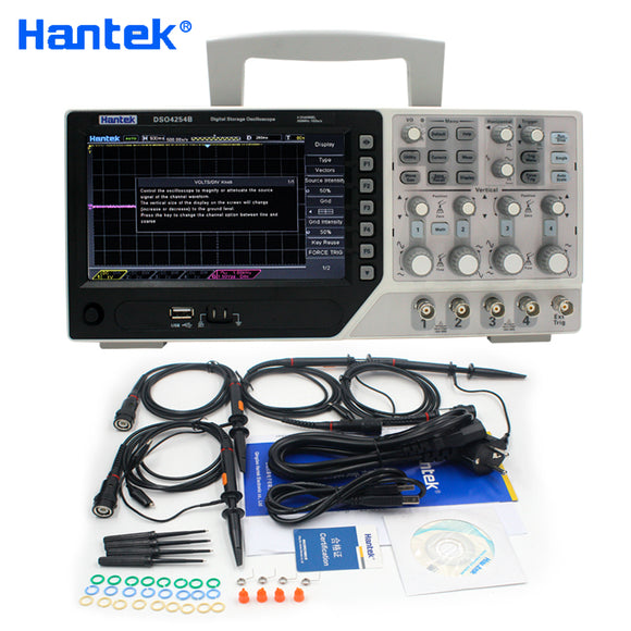 Hantek Official DSO4254B Digital Oscilloscopes USB 250MHz 4 Channels  PC Handheld Portable Osciloscopio Portatil Diagnostic-tool