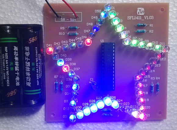 DIY Colorful Star LED Blinking Learning Kit