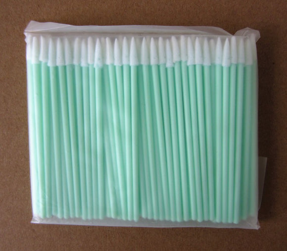 100 pcs ESD Small Tip Foam Tipped Non-Sterile cleaning Applicators/Swabs with Static Dissipative Polypropylene Shaft