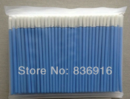500 pcs Blue Handle Cleanroom Foam Swabs , Anti-static Foam Swabs , Clean room ESD Foam tip Micro Cleaning Swabs
