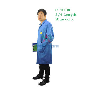 Free Shipping ESD Antistatic Lab Coat ESD Smock Work Wear Smock High Quality Cotton Uniform Wrist Strap +Foot Grounder