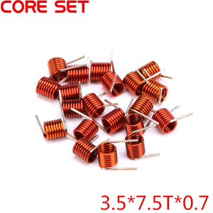 100PCS/Lot 3.5*7.5T*0.7 Inductors FM Coil Inductor Hollow Coil Inductance Copper Wire Remote Control High Quality