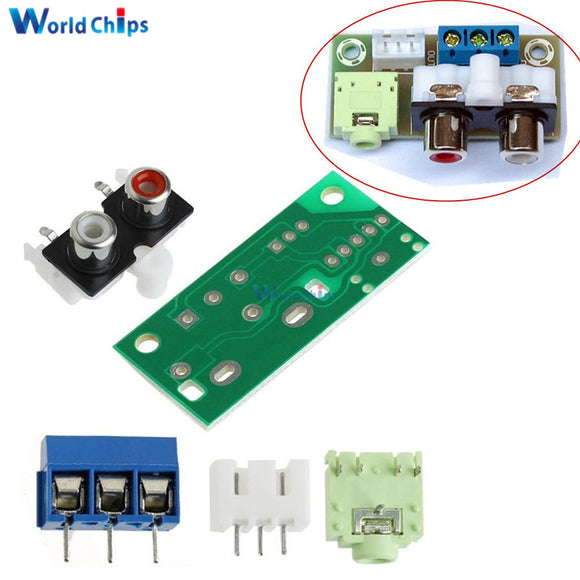DIY Kit Audio Switch Board RCA 3.5mm Audio Input Block For Amplifier Electronic Kits