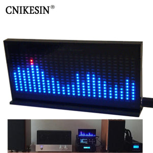 CNIKESIN diy kit AS1424 Professional music spectrum displayer LED level indicating DIY Electronic kit MIC Microphone feeling