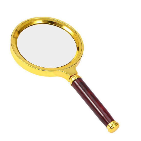 10X Portable 60mm 70cm 80cm 90cm Magnifying Glass Handheld High Definition Reading Eye Loupe Magnifier Glasses for Jewelry