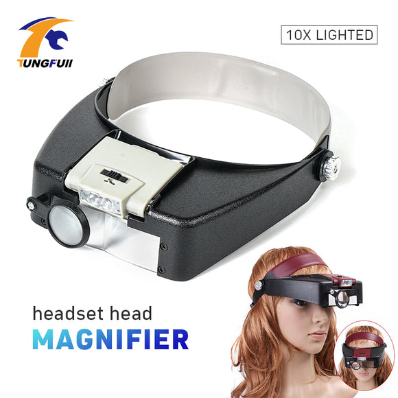 Tungfull Glasses Loupe Wearing Style With Led Light Magnifier Magnifying Glasses Loupe Glasses Magnifier With Led Reading Repair