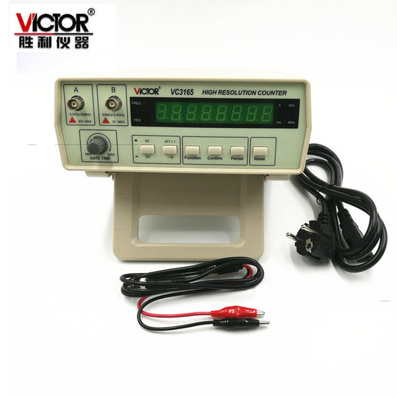 110V/220V New Style Top Quality 0.01Hz - 2.4GHz Precision Frequency Meter Frequency Counter VC3165