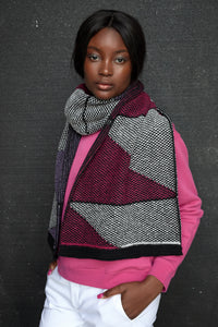 Repeat triangle motif scarf