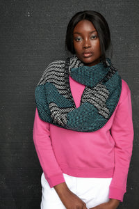 Repeat triangle motif long cowl