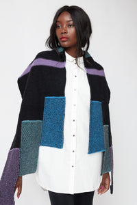 Moving panel hem scarf